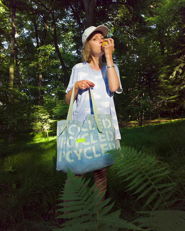duża torba upcyklingowa shopperka