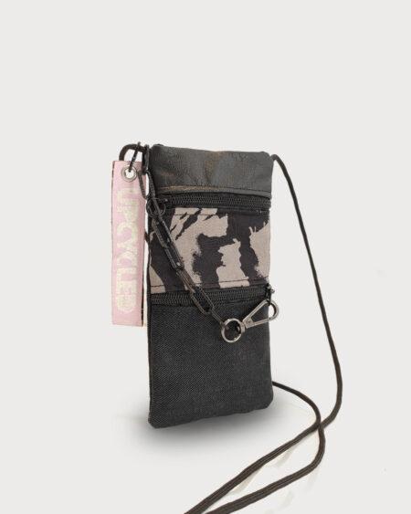 paszportówka upcykling czarna saszetka