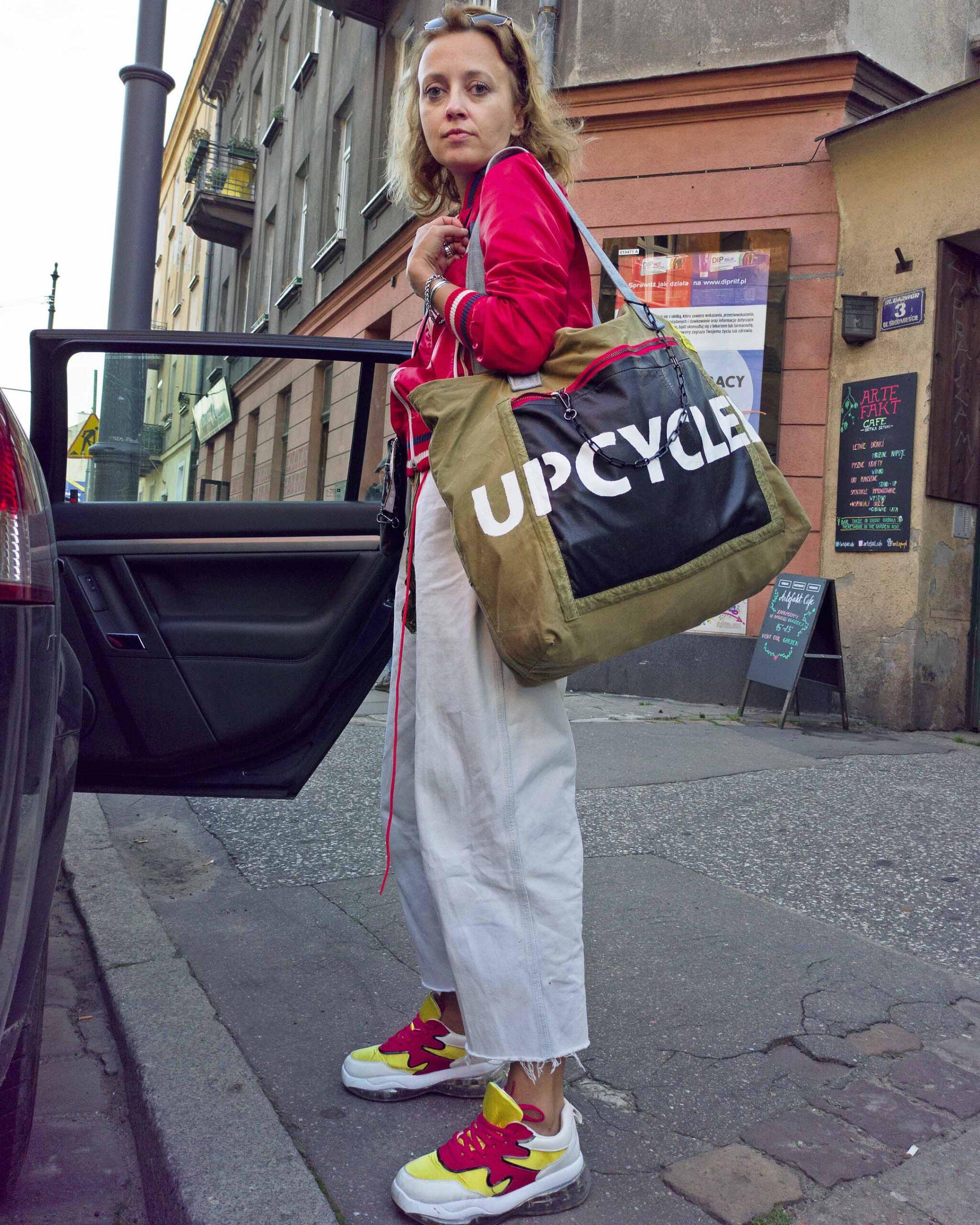 duża torba pocket upcycled